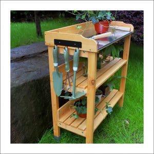 Hoddmimis Outdoor Wooden Potting Bench