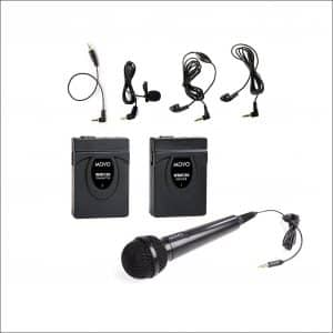 Movo WMIC60 Wireless Lavalier & Hand-held Microphones