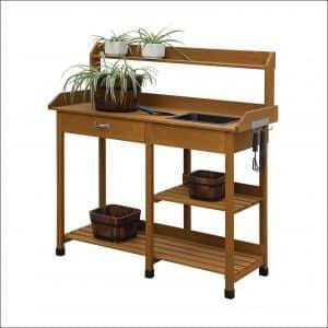 Convenience Concepts Light Oak Potting Bench