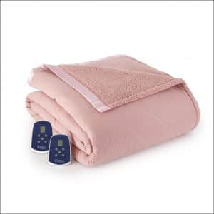 Thermee Micro Flannel Electric Blanket with Sherpa Back