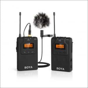Boya WM6 Omnidirectional Wireless Lavalier Microphone for DSLR Cameras