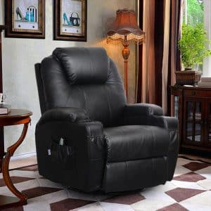 Homedex 360-Degree Massage Recliner Leather Chair