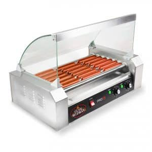 Olde Midway Electric 18 Hot Dog 7 Roller Grill Cooker Machine
