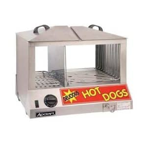 Adcraft Countertop Stainless Steel Hot Dog Steamer