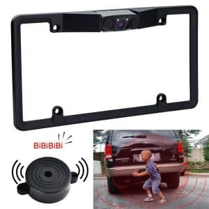 RCRunning License Plate Frame Mount Rear View Camera
