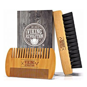 Viking Revolution Beard Brush and Comb Bristle Brush Plus
