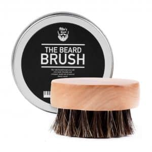 Peter's Beard Brush for Men, Rounded Wooden Handle