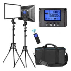 Dazzne D50 LED Video Lighting Kit with Wireless Remote