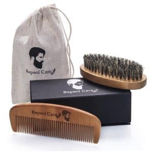 Rapid Beard Brush and Beard Comb kit - Handmade Wooden Comb