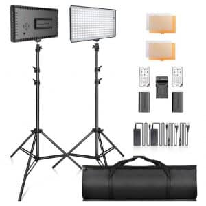 SAMTIAN Dimmable LED Video Lighting Kit