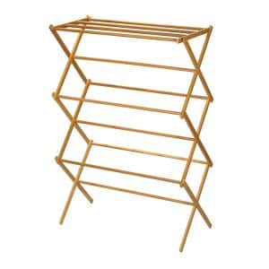 Family unit Clothes Essentials Folding Drying Rack, Bamboo