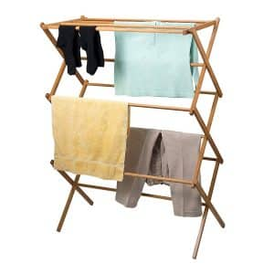 Home-it Bamboo Clothes Drying Rack