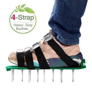 RVZHI 4-Straps Lawn Aerator Shoes