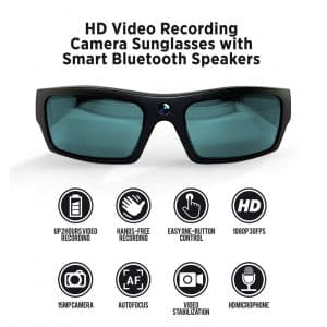 GoVision SOL 1080p HD Camera Glasses Video Recording Sunglasses