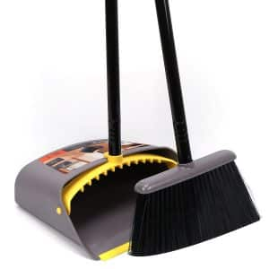 Long Handle Standing Upright Dustpan and Broom Set by Like
