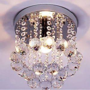 Mini Style One-Light Flush Chandelier