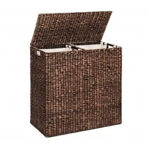 Best Choice Products Water Hyacinth Double Laundry Basket
