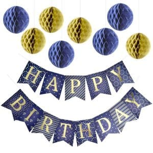 Enfy Happy Birthday Banner Party Decorations