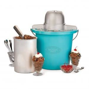 Nostalgia ICMP400BLUE 4-Quart Electric Vintage Collection, Ice Cream Maker