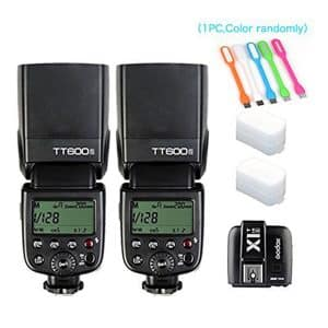 2X Godox Built-in 2.4GHz Wireless X System Flash Trigger, TT600S HSS