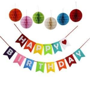 Threemart Happy Birthday Banner