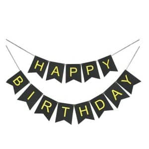 Goer Black Happy Birthday Banner