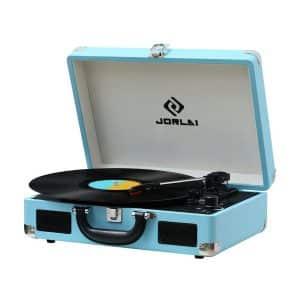 JORLAI Suitcase Vinyl Record Player