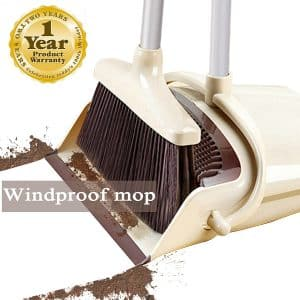LOPDA Broom and Dustpan Set for Outdoor and Indoor