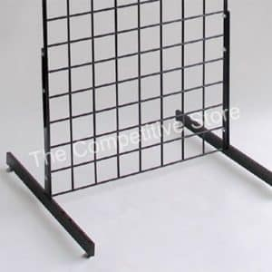 T-Shape Legs Display with Levelers Grid wall Panel - Package of 3 Pairs - Black