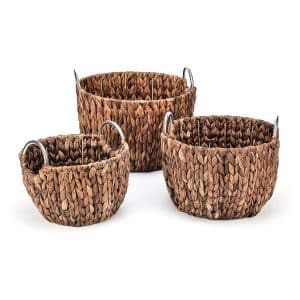 Trademark Innovations Hyacinth Laundry Basket, Set of 3