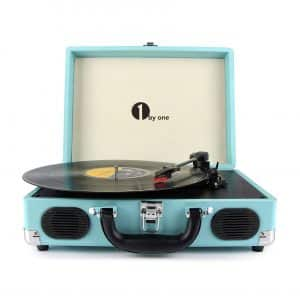 1byone Belt-Drive Suitcase Turntable
