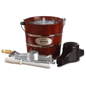 4-Quart Traditional Fir Wood Ice Cream Maker by Aroma Housewares