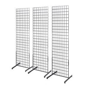 Deluxe Grid Wall Panel Three-Pack Combo Floor Standing