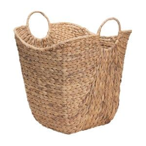 Households Essentials Water Hyacinth Laundry Basket, ML-4002