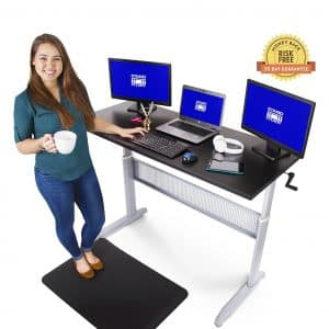 Tranzendesk Easily Crank Standing Desk - 55 inch Long from Standing to Sitting