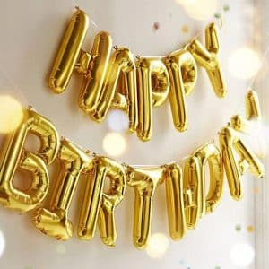 Outgeek Happy Birthday Balloons Banner