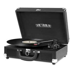 VSC-550BT-BK Victrola Vintage Innovative Bluetooth Suitcase Record Player with Speakers