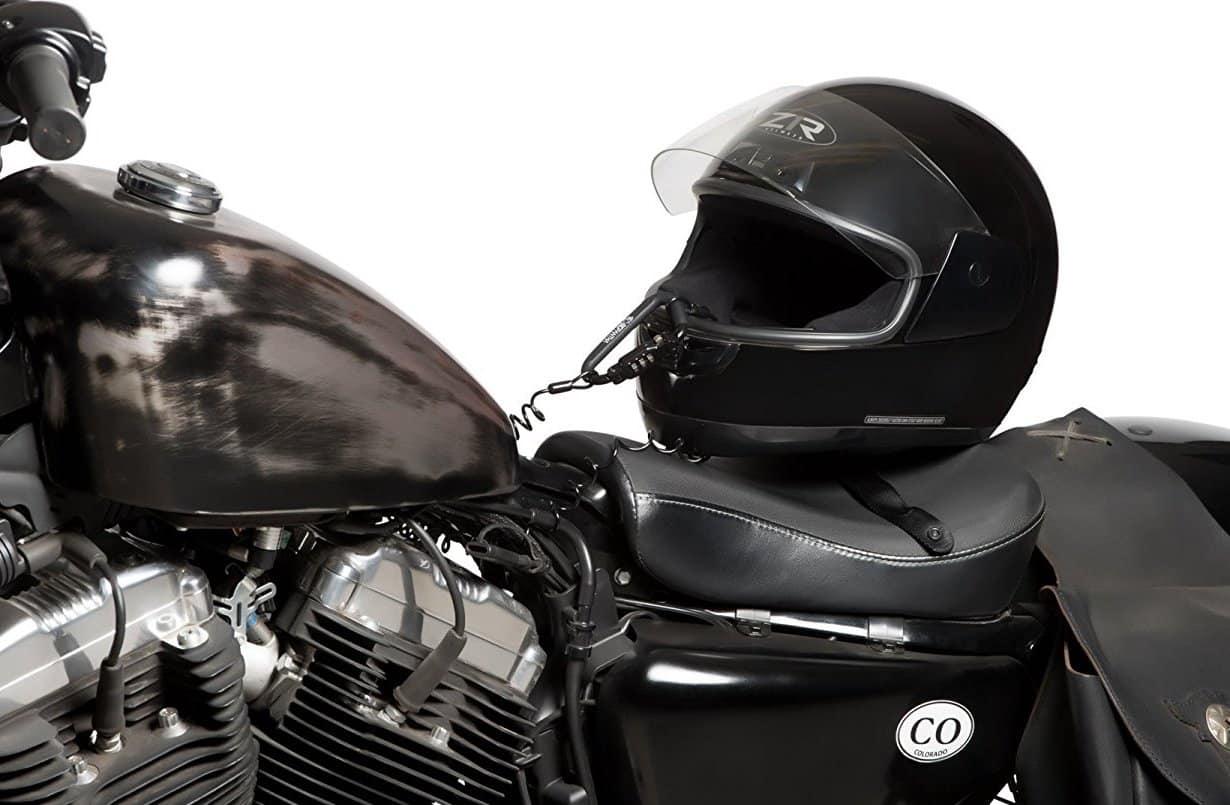 motorbike helmet lock