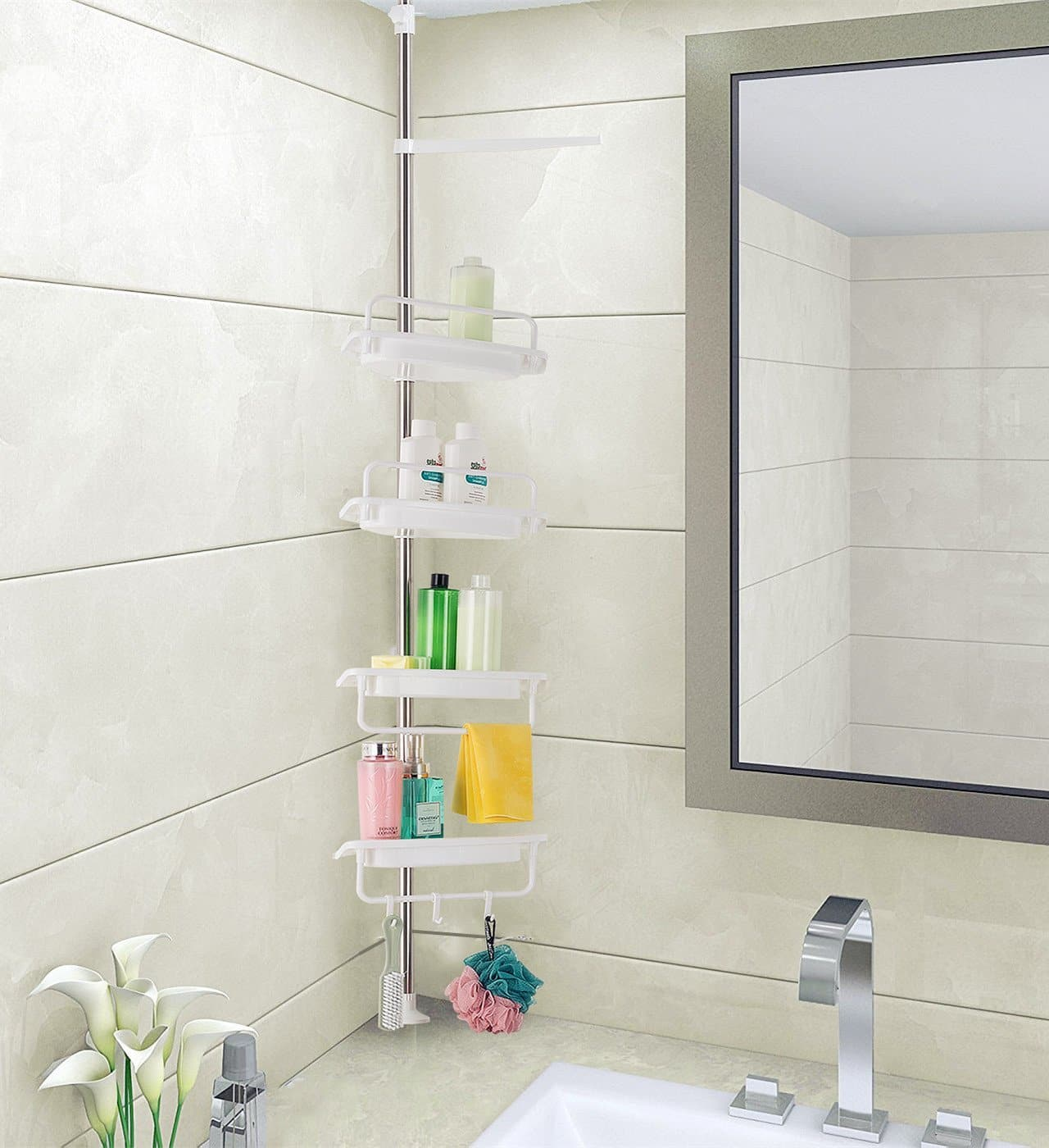 Top 10 Best Shower Caddies Reviews in 2018 | Shower Shelves