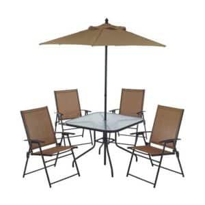 Mosaic Brand Six Piece Outdoor Dining Set