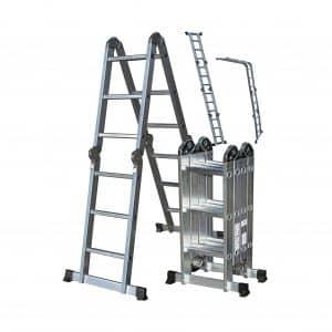 Aluminum Folding Scaffold Work Ladder 11.5 ft. from OxGord