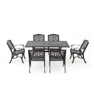 Great Deal Furniture Brand Odena Seven Piece Dining Set