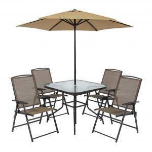 Best Choice Products Six Piece Outdoor Table Set