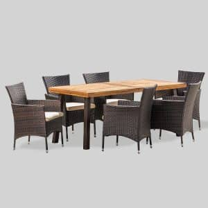 Christopher Knight Home Randy 7 Pieces Acacia Wood Dining Set