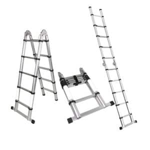 Magshion A-Frame EN131 Aluminum Multi-Purpose Ladder Telescopic Extension Tall