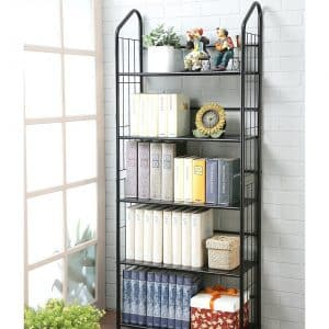 Unbrand FT-597BK-5 Black 5 Tier Metal Bookshelf