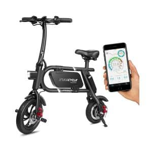 SwagCycle Pro Folding Electric bike, Pedal Free and App Enabled 18 MPH E Bike