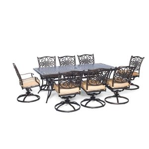 Hanover Brand Traditions Nine Piece Outdoor Dining Set