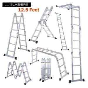 Luisladders Aluminum Safety Locking Hinges Multi-Purpose Folding Extendable