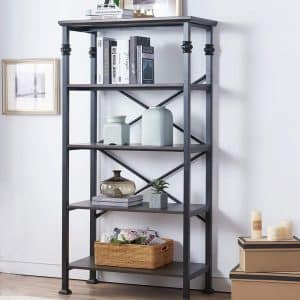 O&K Furniture 5-Tier Bookcase and Shelves